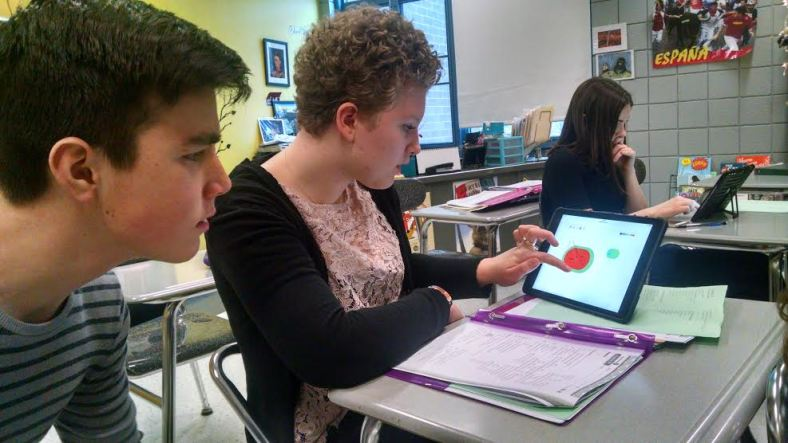 "Rachelle's students drawing a watermelon with our ""Show Your Work"" drawing tool!"