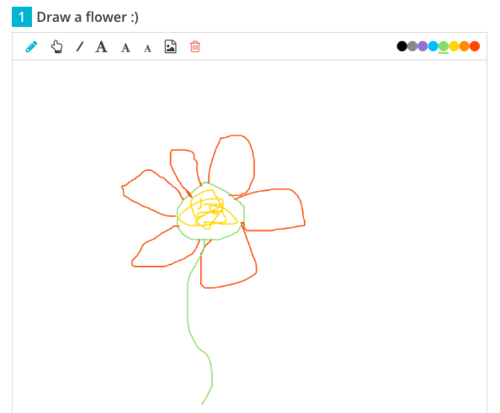 Cassy had teachers respond to a Show Your Work question and draw their own flowers!